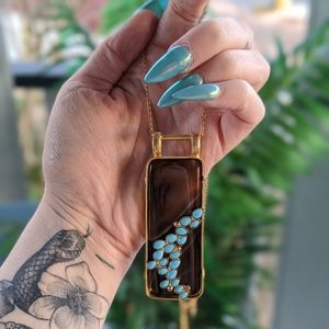 Sorrelli // Turquoise Stone Pendant Necklace